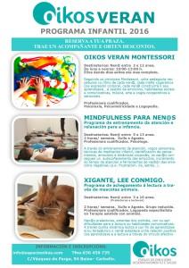 Programas Oikos infantil 2016/2
