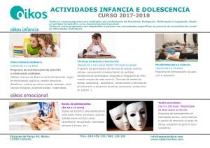 Program de actividades niños e infancia 2017-18
