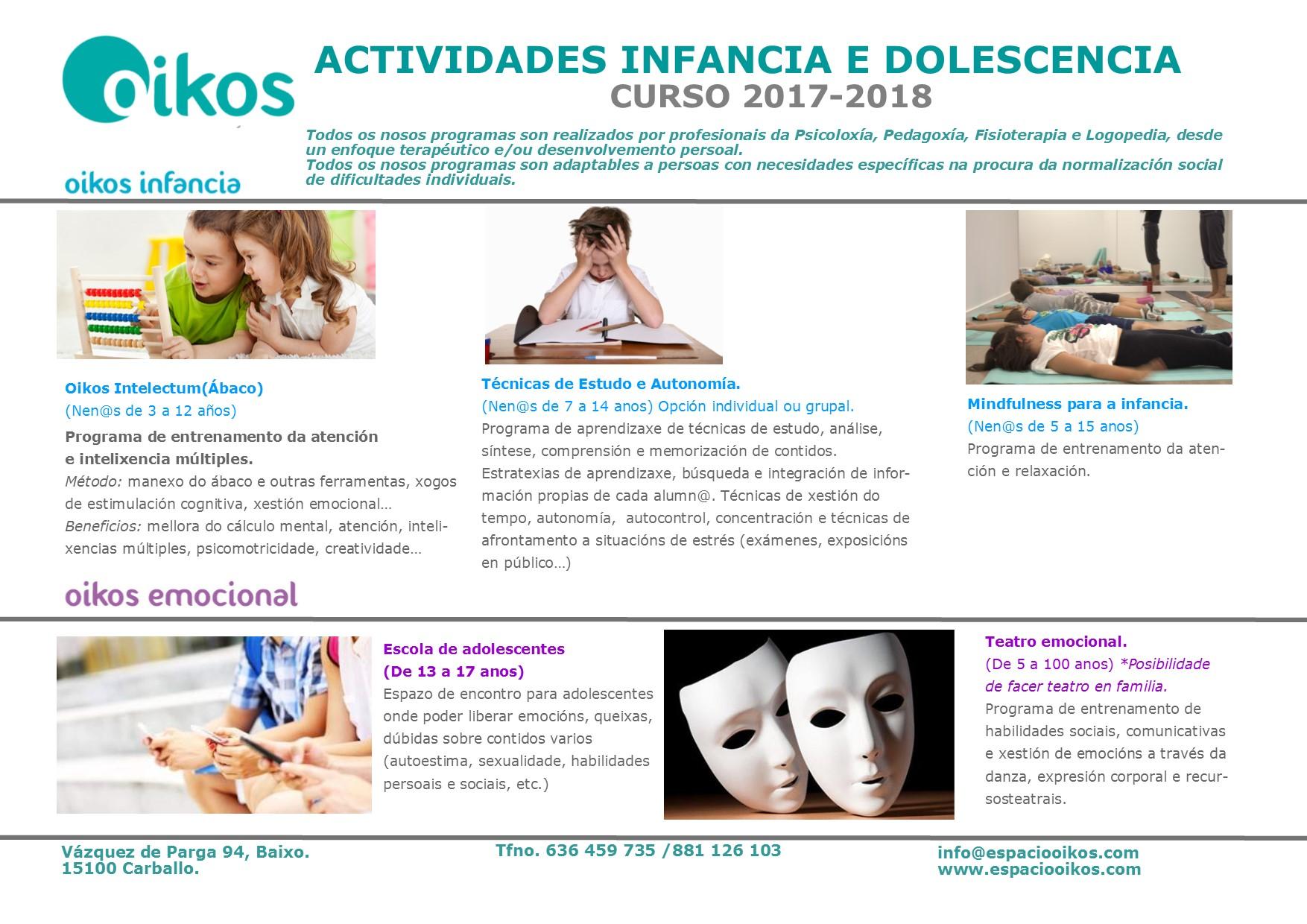 OIKOS INFANCIA E ADOLESCENCIA 2017-18