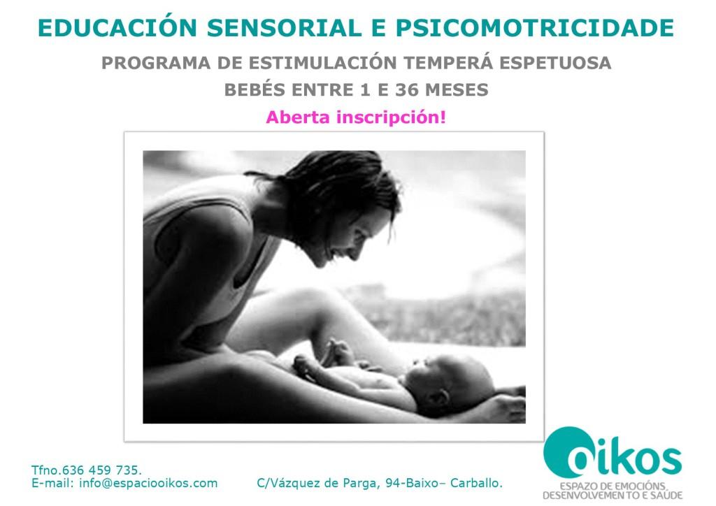 apertura Programas de educación sensorial y psicomotricidad