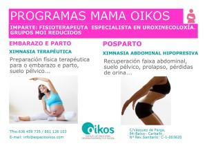 Información Programas mamás Oikos