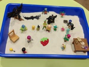 construcción y recreación caja de arena