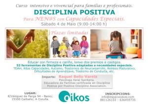 Cartel disciplinas positivas niños capacidades especiales