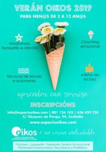 cartel 2 cursos verano Oikos niños
