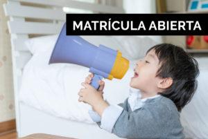 Apertura matricula cursos comunicación verbal y autismo
